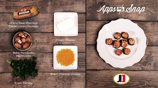 Jimmy Dean Bacon Sausage Mushroom Caps #appsinasnap