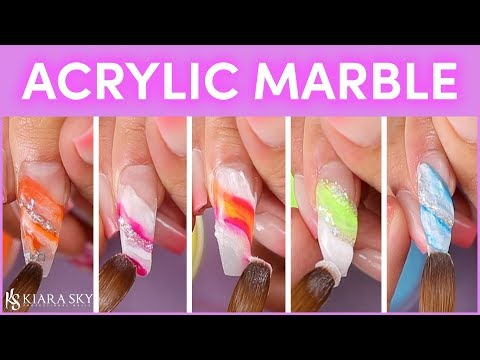 How To Marble Acrylic 💅🏼 Marbled Nails 💕Acrylic For Beginners