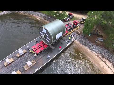 Yankee Dryer rolling off barge