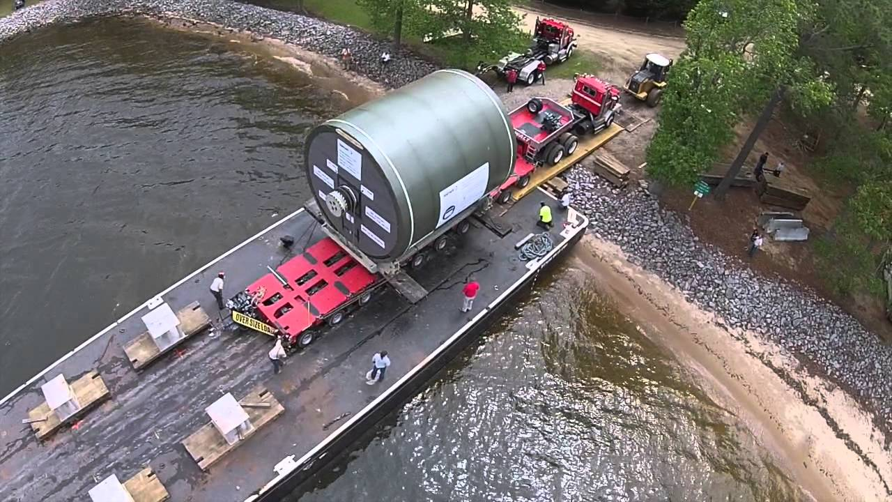 Yankee Dryer Rolling Off Barge Youtube