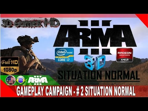 3D Arma 3 - Campaign Situation Normal | 1080p Side By Side | I7 3770/8Gb Ram/ R7 280x