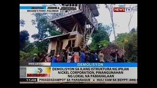 BT Demolisyon sa ilang istruktura ng Ipilan Nickel Corporation pinangunahan ng lokal na pamahalaan