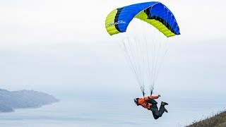 Обучение спидфлаингу. Старты в штиль (No wind speedflying launch)