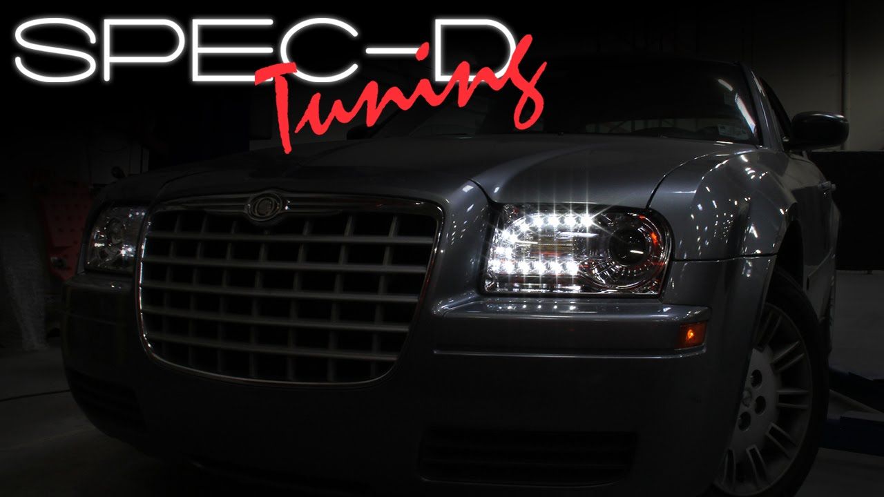 hight resolution of specdtuning installation video 2005 2010 chrysler 300 led projector headlights youtube