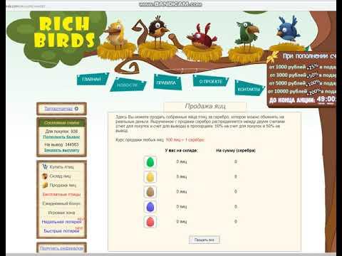 Продам аккаунт Rich Birds