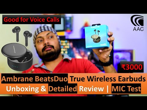 Ambrane BeatsDuo True Wireless Stereo Earbuds,25Hr Music,AAC,4 MICs | UnBoxing & Detailed Review