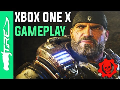 Gears of War 4 Xbox One X 4K Gameplay (Gears of War 4 Project Scorpio 4K Gameplay)