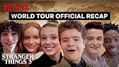 Stranger Things 3 Cast World Tour - Best Moments | Netflix
