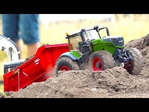 RC TRUCKS, STUCKING TRACTOR FENDT 1050 AND MORE! RC CONSTRUCTION-WORLD! HANSETRUCKER!