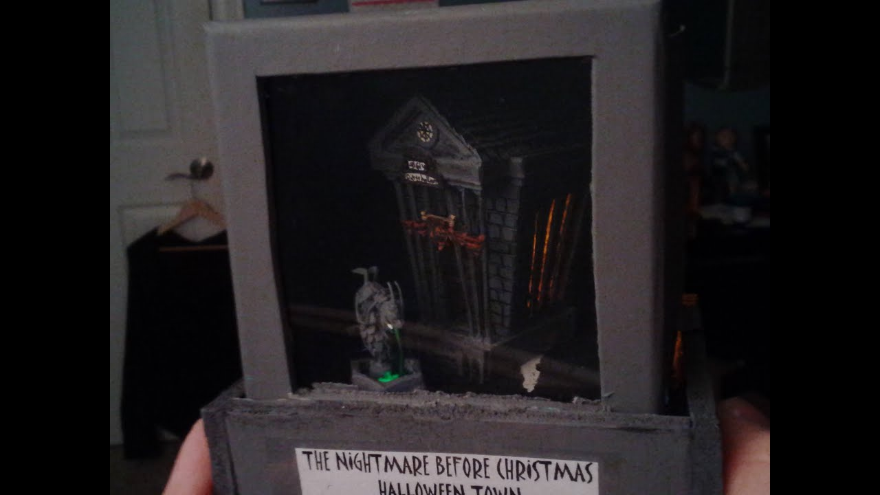 The Nightmare Before Christmas Town Hall Miniature - YouTube