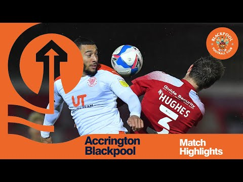 Accrington Blackpool Goals And Highlights