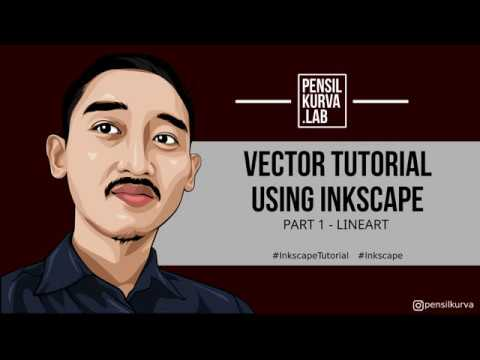 Tutorial Vector Kartun Wajah dengan Inkscape. PART 1 : Lineart (by Pensilkurva) thumbnail