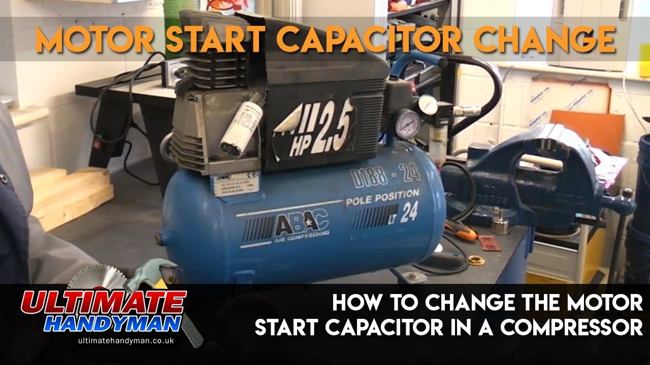 How To Change The Motor Start Capacitor In A Compressor Youtube Snap On Wiring Diagram