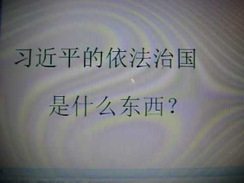 新中国论坛---习近平的依法治国究竟是什么意思?