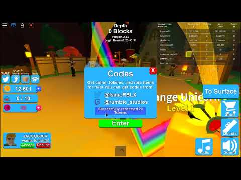 All Codes In Roblox To Mining Simulator All Token Wiki Fandom Youtube