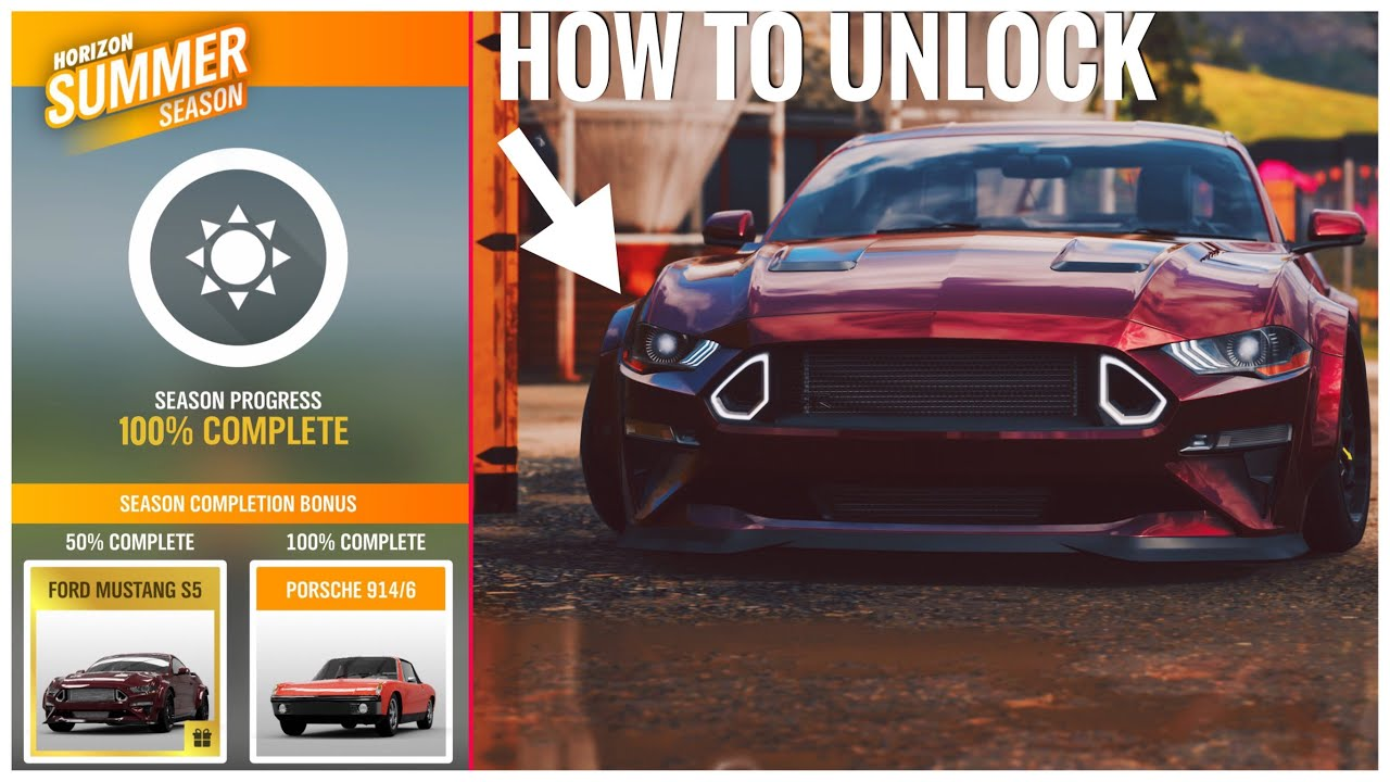 Forza Horizon 4 How to unlock the RTR Mustang Spec 5 & the