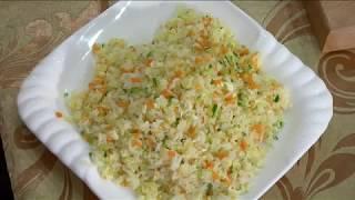Китайская кухня, Жареный рис с яйцом и овощами.