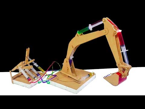 How to Make a Remote Control Hydraulic Excavator/JCB ' at Home DIY
