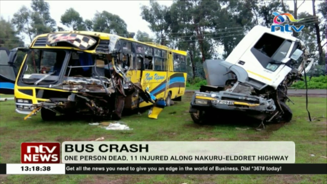 One dead, 11 injured in road accident along Nakuru-Eldoret Highway