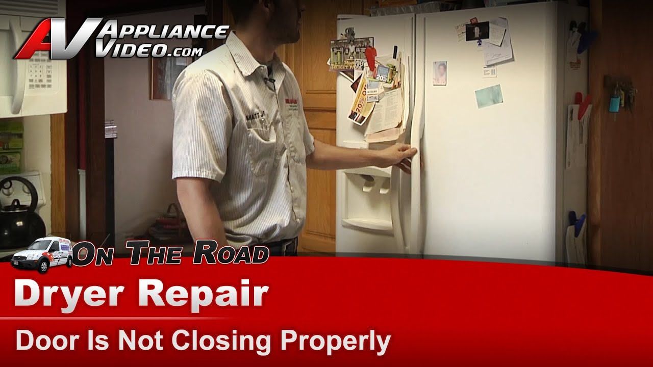 Frigidaire Refrigerator Diagnostic Door Is Not Closing Properly Frs6r4ew2