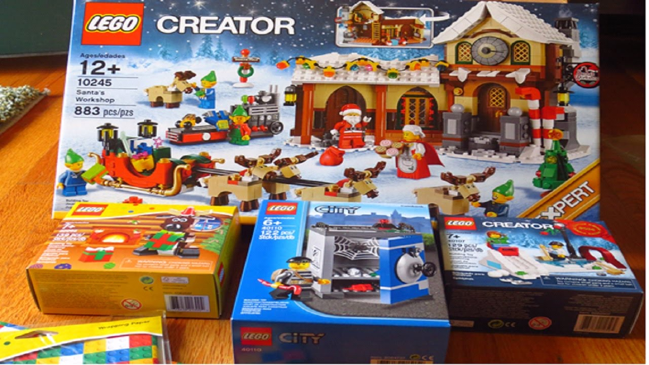 lego store haul christmas sets exclusive