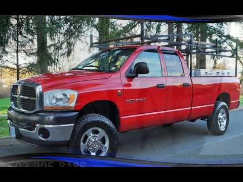 2006 Dodge Ram 2500 4X4 5.9L CUMMINS Auto Long Bed 2 Owners New Tires for sale in Milwaukie, OR