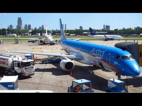 Amazing flight EMBRAER E-190 Austral Buenos Aires AEP to São Paulo GRU + SP & its best beaches