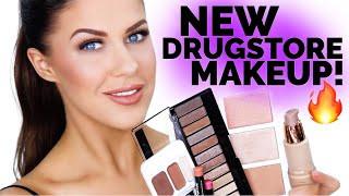 FULL FACE OF NEW DRUGSTORE MAKEUP!!! | FIRST IMPRESSIONS + NEW FAVORITES!!!