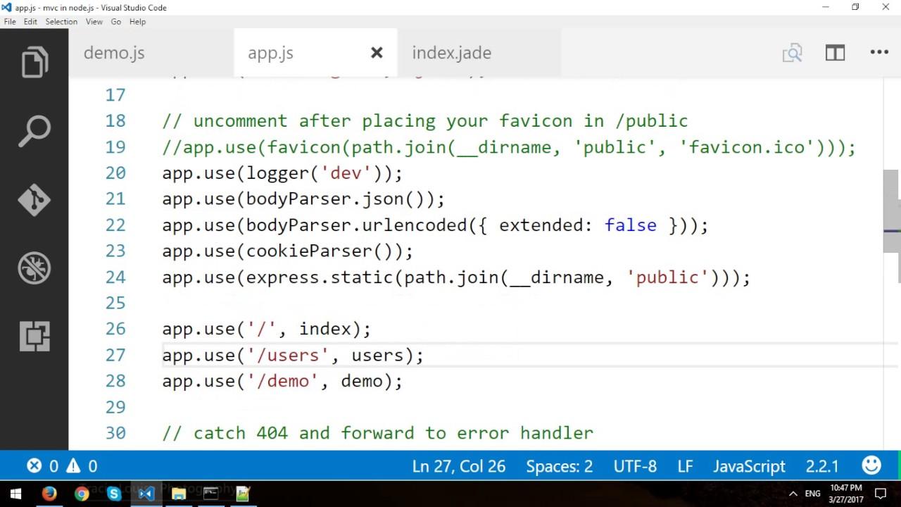 Node. Js express framework tutorial learn in 10 minutes.