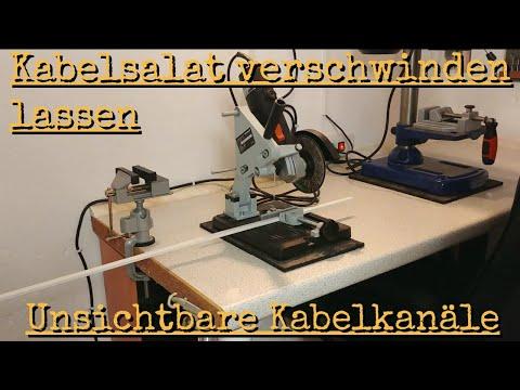 Bekannt Kabelsalat verschwinden lassen - Unsichtbare Kabelkanäle - YouTube XV04