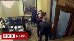 Capitol mob got close to Pence Romney and Schumer new footage shows - BBC News