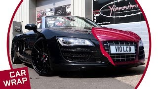 Audi R8 V10 Spyder wrapped Gloss Cinder Spark Red