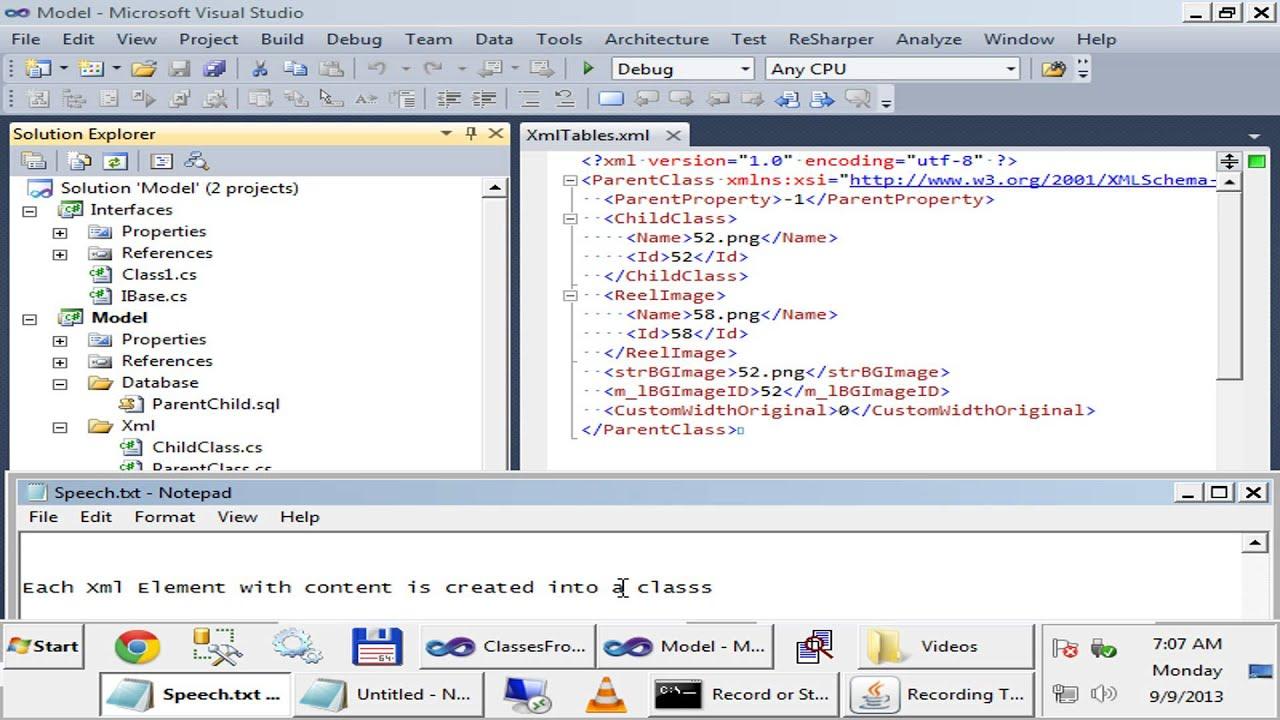 Visual Studio Add-In Convertin Xml To Classes