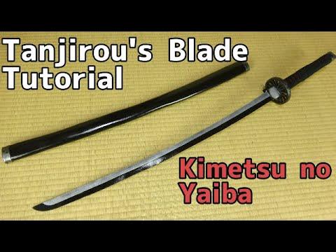 【Kimetsu No Yaiba】Tanjirou's Nichirin Blade Tutorial 【Demon Slayer】[Katana tutorial]