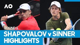 Denis Shapovalov vs Jannik Sinner Match Highlights (1R) | Australian Open 2021