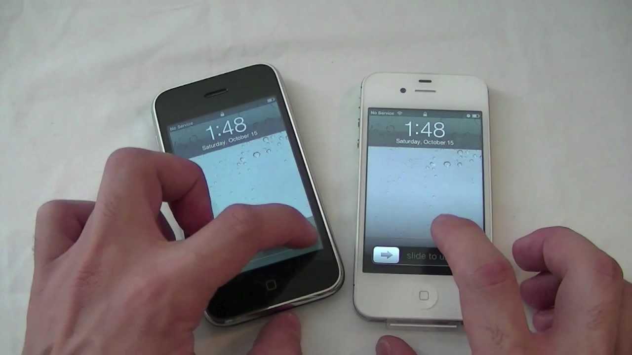 IPhone 4S Vs 3G Comparison 1080p HD