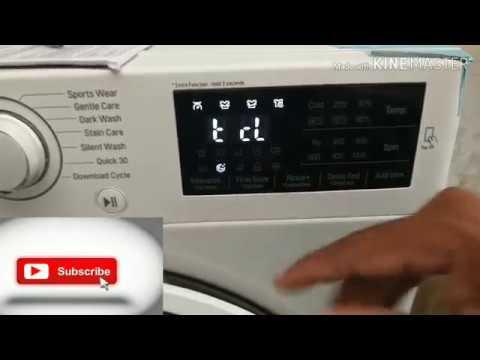 LG Steam Washing Machine | Tub Clean demo
