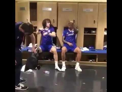 Chelsea David Luiz and Kennedy dancing Wande Coal