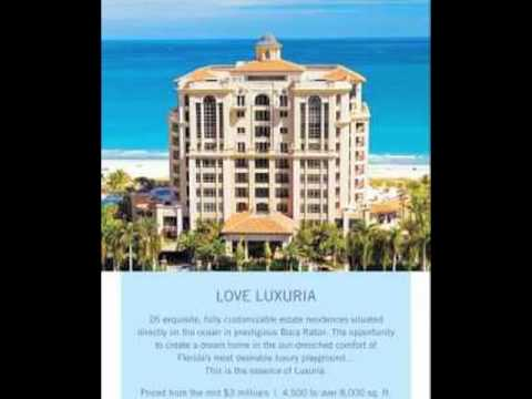New Luxuria-Estate Residences Directly on the Ocean in Boca Raton Florida-Only 26 Available-Hurry!