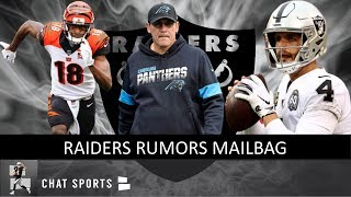 Raiders Rumors: Hire Ron Rivera, Sign A.J. Green, Robby Anderson & Derek Carr's Future | Mailbag
