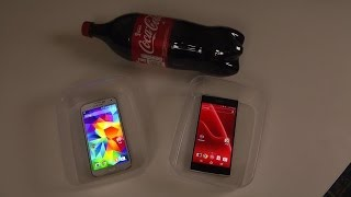 Samsung Galaxy S5 vs. Sony Xperia Z2 - Coca-Cola Test Which Is Best?