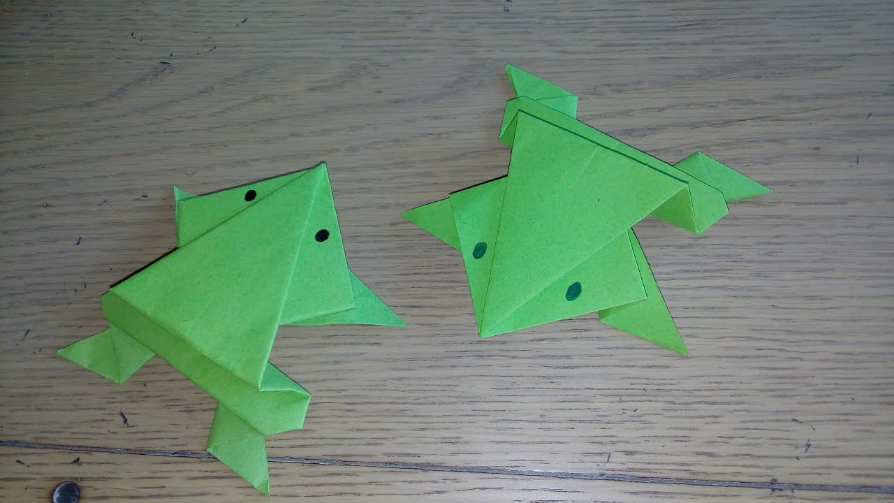 Origami facile la grenouille qui saute the frog par alexandre 6 ans youtube - Origami grenouille sauteuse pdf ...