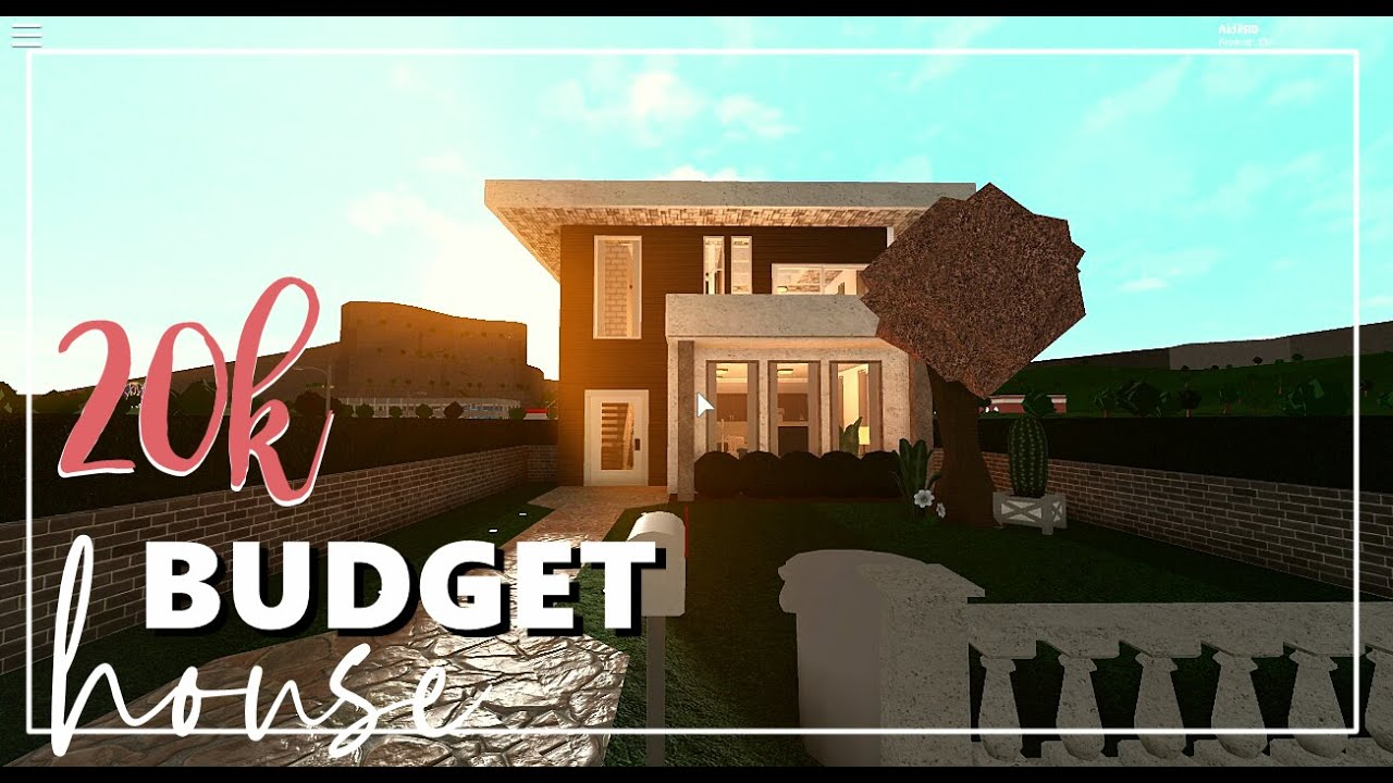 $20 000 Modern House Build Roblox Bloxburg Houses 2 Roblox Welcome To Bloxburg 20k 2 Story Budget House Tour Speed Build Aidil Rd Youtube