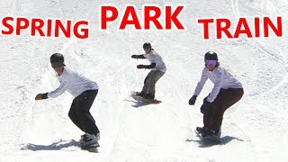 SPRING SNOWBOARDING PARK TRAIN