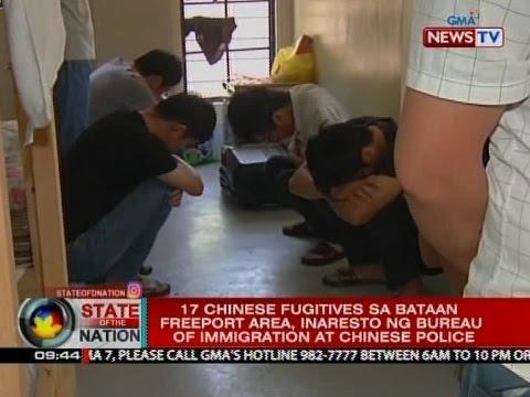 17 Chinese fugitives sa Bataan Freeport area, inaresto ng Bureau of Immigration at Chinese police