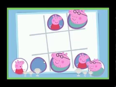 Свинка Пеппа играет в Крестики Нолики