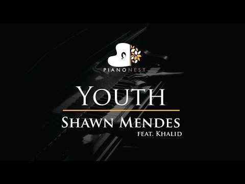 Shawn Mendes - Youth (feat. Khalid) - Piano Karaoke / Sing Along / Cover with Lyrics