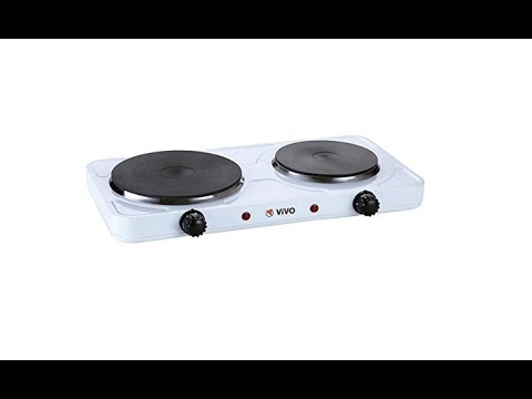 Double Portable Electric Hot Plate Hob Kitchen Review