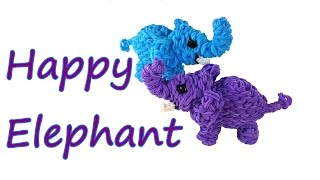 Happy Elephant Tutorial by feelinspiffy (Rainbow Loom)