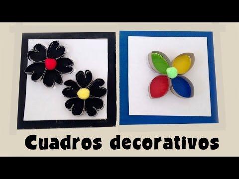 Cuadros decorativos de cartón: Manualidades de reciclaje